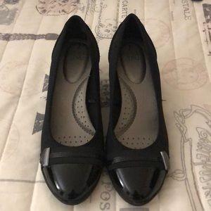 Wedge black dress shoes